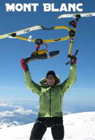 2011年3月, Wolfgang Jast 骑C6滑雪自行车首次登上阿尔皮斯最高峰——勃朗峰。