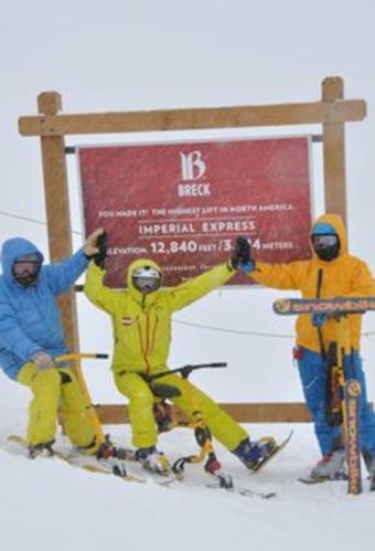 2013年3月, Roger Hollenbeck, Harald Brenter和Bernd Brenter三人到达位于北美科罗拉多州的布雷肯里奇峰顶,高达12.480 英尺。