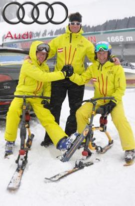 2013年3月,由奥迪Q5提供技术支持,Harald Brenter 和Hermann Koch在短短的三个白天内,骑行滑雪自行车通过了33个滑雪区域 。
