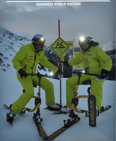 2018 吉尼斯世界纪录保 24小时 63638立式仪表 2 snowbiker 总共360公里 188跑 最高时速104公里